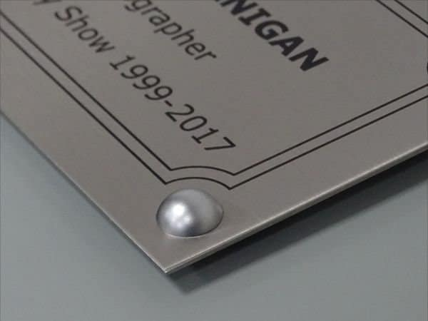 Professionally engraved plaque