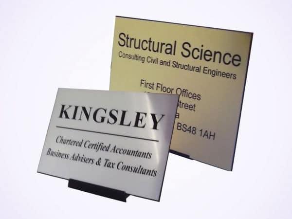 Engraved nameplates for desks