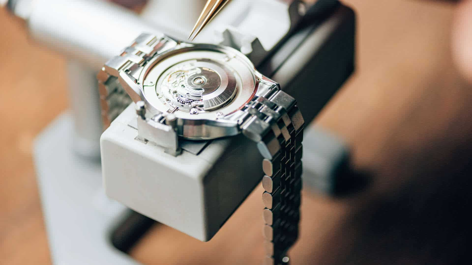 High end watch being serviced for customer in Stirling